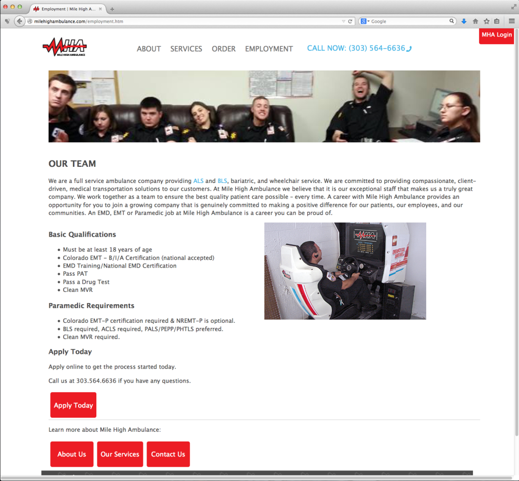 MHA Site – Employment