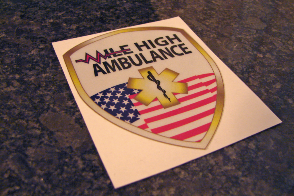 Mile High Ambulance Sticker Patch