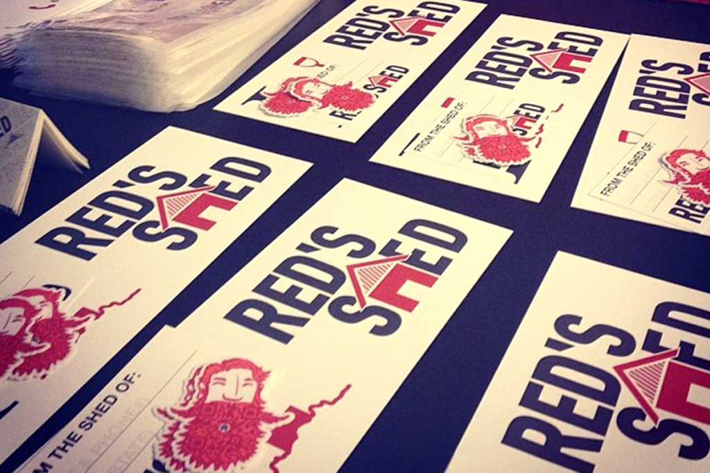 Red's Shed Bumper Stickers