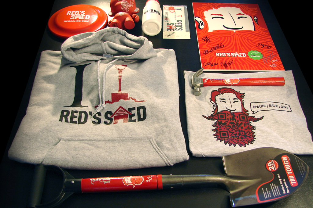 Various Give Aways for the KickStarter Campaign