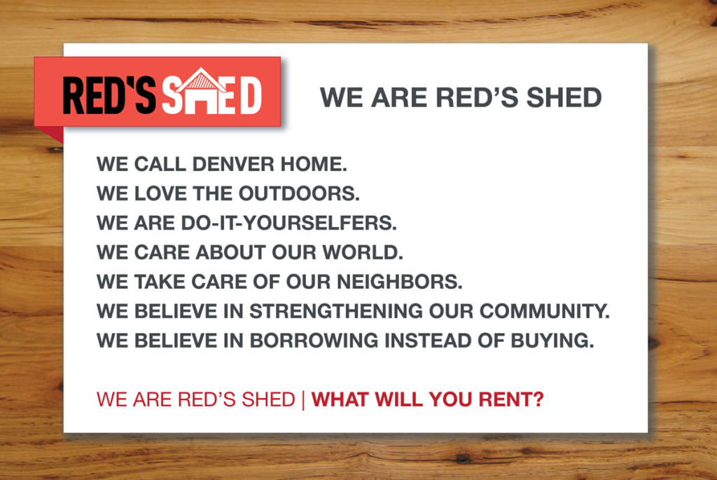 Red's Shed Office Poster