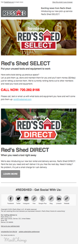 Red's Shed SELECT Email