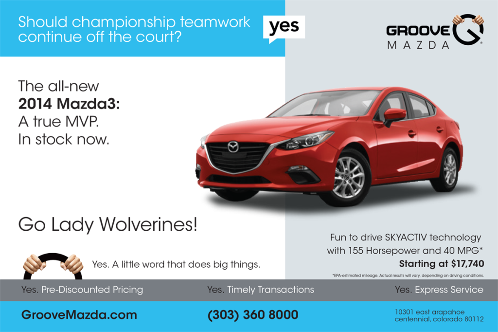 2013 Mazda3 basketball program ad