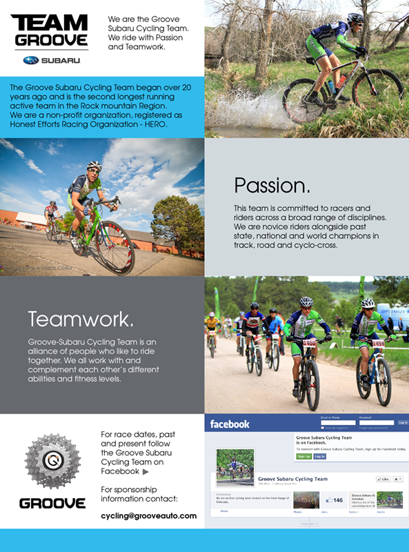 Subaru Cycling Team Splash Page Graphic