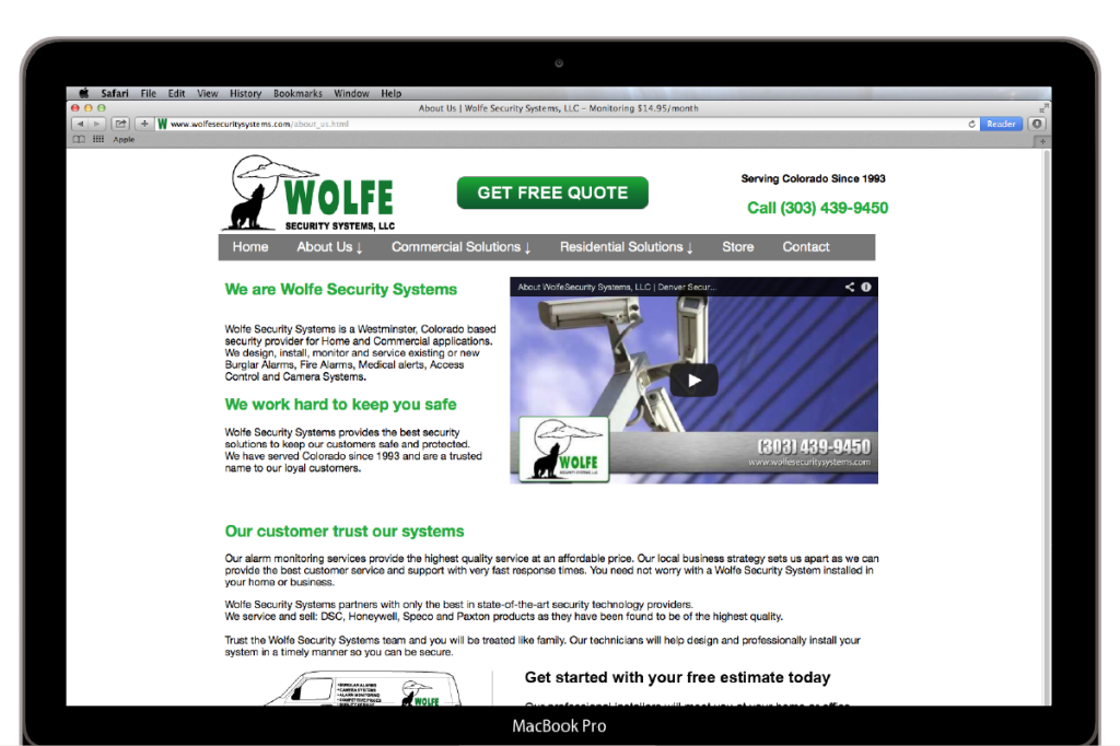 Wolfe Security Systems About Page